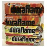 Lot of 4 Duraflame logs, 2 regular and 2 Easytime