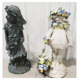 Resin and Stone Garden Decoration Girls