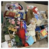 Pallet Includes Christmas Decor, Ribbons,