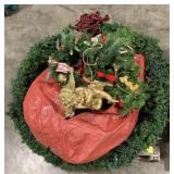 Giant Wreath, Angel Statue, Christmas Tree