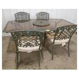 Rectangular Outdoor Patio Table with 4 Chairs