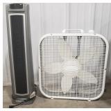 Lasko Oscillating Floor Heater and Lasko Box Fan