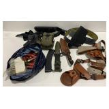 Lot Of Holsters, Knives, Ammo