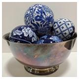 Silver Plated Paul Revere bowl with decorative