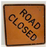 Metal Road Closed Sign