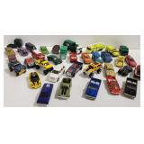 Large lot of toy cars including matchbox and Hot