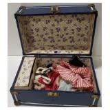 Small Doll Clothes Trunk w/ Clothes