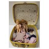 Small Ballet Themed Suitcase w/ Dolls and Doll
