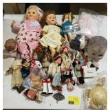 Large Lot Includes Dolls and Doll Clothes