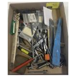 Small Misc Tools Including Hacksaw Blades, Long