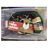 Lot of miscellaneous Christmas rope lighting,
