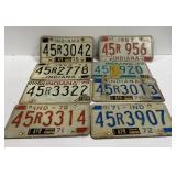 Old Expired Indiana Illinois License Plates