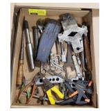 Misc. Flat of Clamps, Pliers, Wire Cutters, and