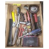Flat of Wrenches, Screwdriver Bits, Crowbar, and