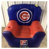 Inflatable 3ft tall Chicago Cubs baseball chair.