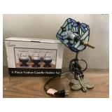 Live Laugh Love Candle Holders and Dragonfly Lamp