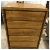 Chidcraft by Smith 5 drawer sold oak chest