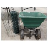 Seed spreader with missing handle, small wire