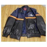 NFL Chicago Bears Leather Bomber Jacket, size: