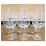 Wine Glasses w/ Glass Etch Detailing