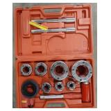 Pipe threading kit by Central Forge. 11 pieces in