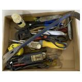 Misc Tools Including Pliers, Pry Bar, Tape