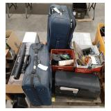 Lot of items, luggage, mail box, water tech cargo