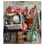Large lot of outdoor tools and accessories, gas
