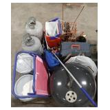 Large lot of items, 5-gal. Buckets of paint,