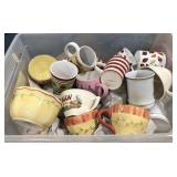 Lot of miscellaneous ceramic coffee cups, mugs