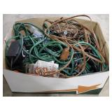 Large box lot of wires and more