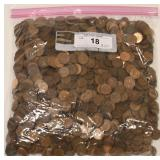 9.6 lbs Of Canadian Pennies