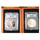 (2) 2006 Ben Franklin Commemorative Silver Dollars
