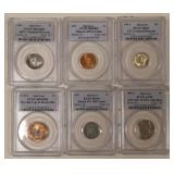 (6) PCGS Graded Mint Error Coins