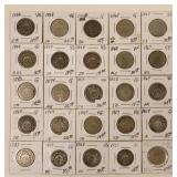 (25) US Shield Nickels 1867-1883