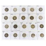 (20) US Silver Barber Dimes 1897-1913