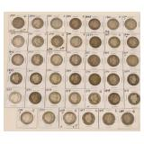 (41) US Silver Barber Quarters 1899-1903