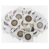 (40) US Silver Barber Quarters 1903-1907