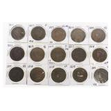 (15) US Large Cents 1814-1827