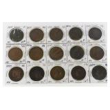 (15) US Large Cents 1832-1846