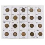 (20) Copper Nickel Indian Head Cents 1862 & 63