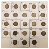 (20) Indian Head Cents 1863-64