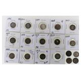 (18) US Seated Liberty Half Dime Silver Coins