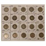 (20) 1907-1912  Liberty Head Nickels