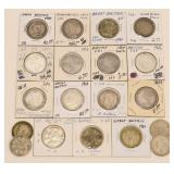 (19) Great Britain Silver Florin Coins