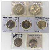 (7) 1947 Phillipines MacArthur Silver Coins