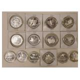 (14) Russia 1980 Olympics 10 Roubles Silver Coins