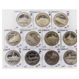 (11) Gibraltar Warships of WWII Silver Crown Coins