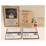 (5) Gold Commemorative Medals