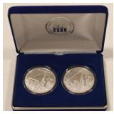 (2) World Trade Center Recovery Silver Coins